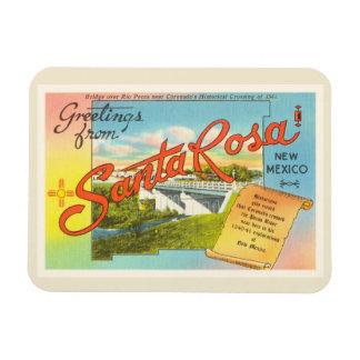 Souvenir vintage de voyage de Santa Rosa Nouveau Magnets