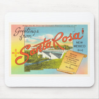 Souvenir vintage de voyage de Santa Rosa Nouveau Tapis De Souris