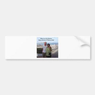 Souvenirs de Mandy et de John Weddding Autocollant De Voiture