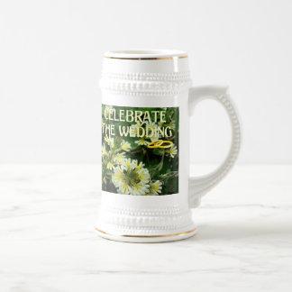 Souvenirs de mariage ; Célébrez le mariage Chope À Bière
