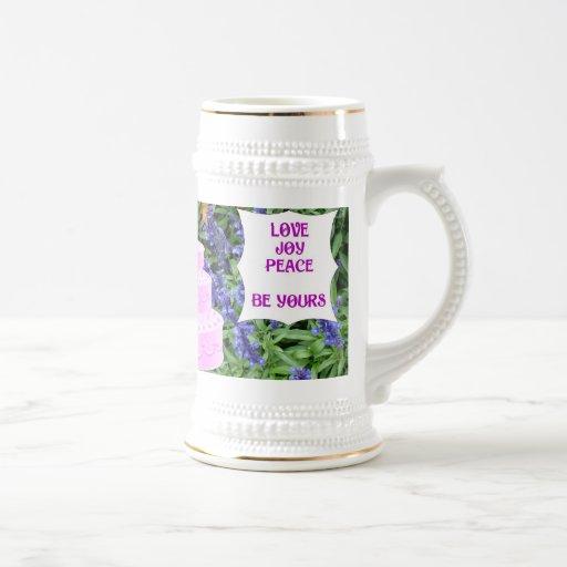 Souvenirs de mariage ; La paix de joie d'amour soi Tasses