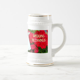 Souvenirs de mariage ; Mariage Blassings Chope À Bière