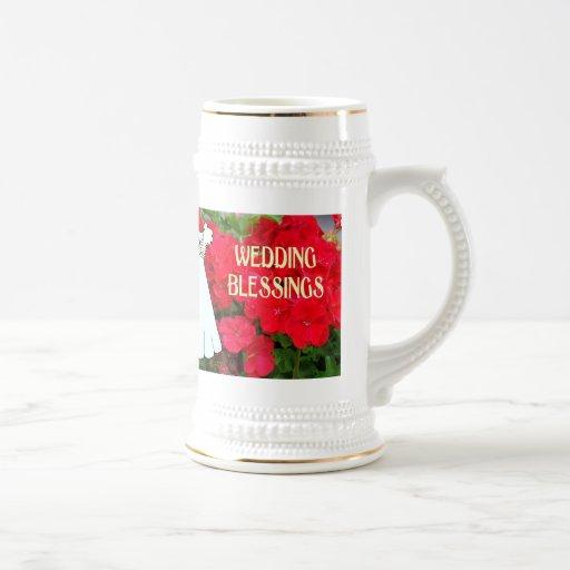 Souvenirs de mariage ; Mariage Blassings Tasses