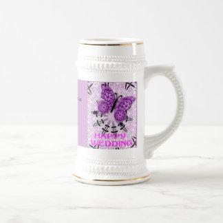 Souvenirs de mariage ; Violette 2 de papillon Tasse