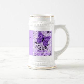 Souvenirs de mariage ; Violette de papillon Tasse