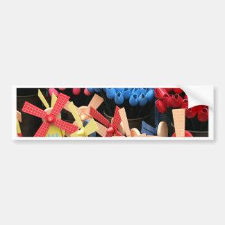 Souvenirs de moulins à vent et de tulipes, autocollant de voiture