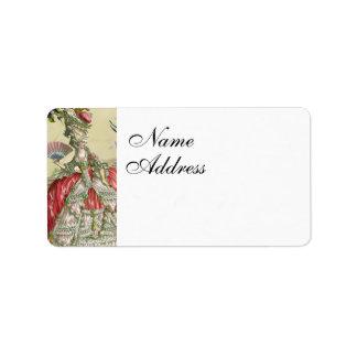 Souvenirs De Versailles Étiquettes D'adresse