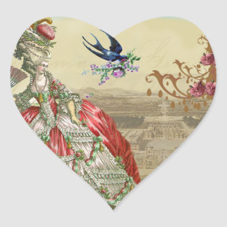 Souvenirs de Versailles Envelope Seal Heart Sticker