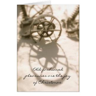 Souvenirs démodés de Noël de tracteur Carte De Vœux
