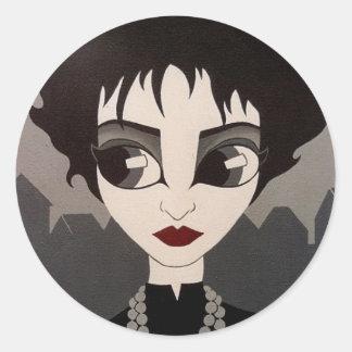 Souxie round sticker