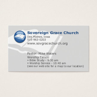Sovereign Grace Church - For Whom Did Christ Die? Business Card