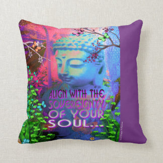 Sovereignty Buddha Throw Pillow
