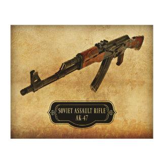 Soviet Assault Rifle AK-47 Gun Print