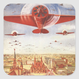 Soviet Aviation Square Sticker