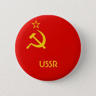 Soviet Flag 2 Inch Round Button