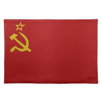 Soviet flag placemat