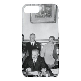 Soviet Foreign Minister Molotov signs_War image iPhone 7 Case