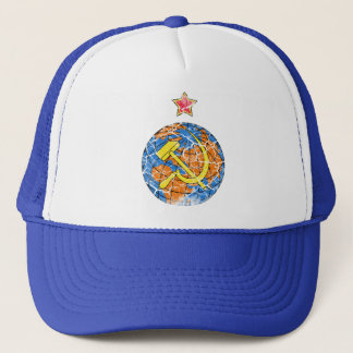 Soviet Hammer & Sickle and Earth Vintage Trucker Hat
