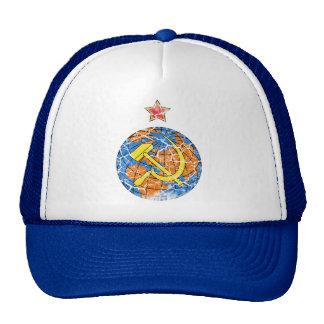 Soviet Hammer & Sickle and Earth Vintage Trucker Hat
