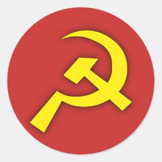 Soviet Hammer & Sickle Round Sticker