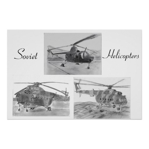 Soviet Helicopter poster