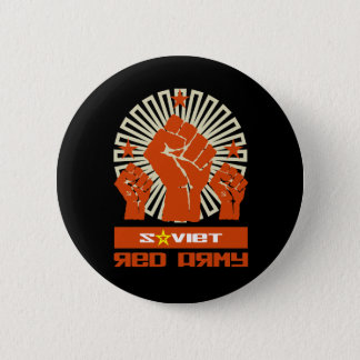 Soviet Red Army 3 Fists 2 Inch Round Button