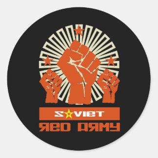 Soviet Red Army 3 Fists Round Sticker