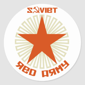 Soviet Red Army Star Classic Round Sticker
