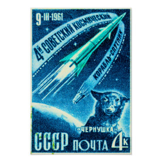 Soviet Space Dog Poster