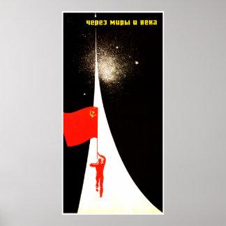 Soviet Space Propaganda Poster