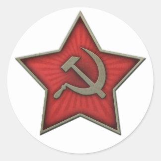 Soviet Star Hammer and Sickle Communist Classic Round Sticker