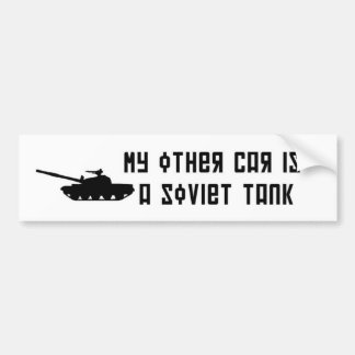 Soviet tank Bumper Sticker