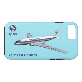 Soviet Tupolev (Туполев) Tu-104 Airliner iPhone 8/7 Case