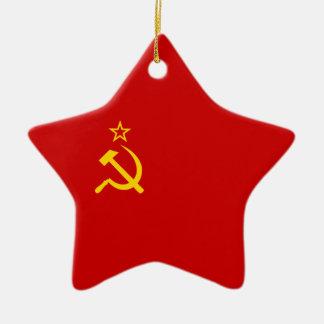 Soviet Union Flag Ceramic Ornament
