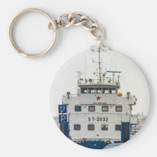 Soviet Union Ship Keychain