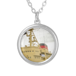 Soviet Union Ship Museum Silver Plated Necklace