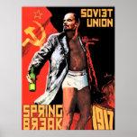 Soviet Union Spring Break 1917 Poster