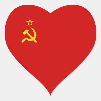 Soviet Union/USSR/CCCP Heart Flag Heart Sticker