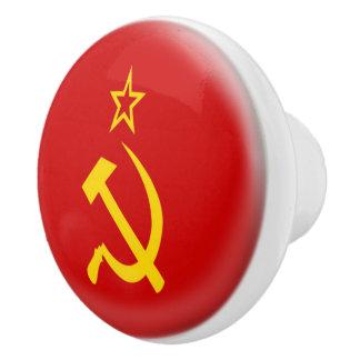 Soviet Union - USSR  Flag Ceramic Knob
