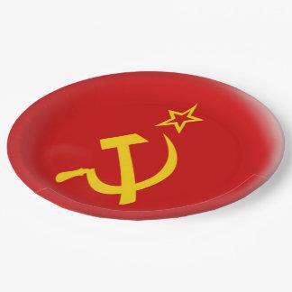 Soviet Union - USSR  Flag Paper Plate