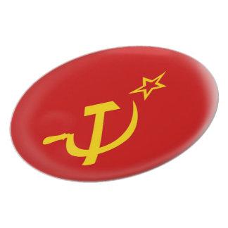 Soviet Union - USSR  Flag Plate