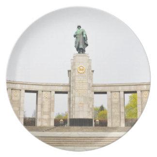 Soviet War Memorial in Berlin, Germany Party Plates