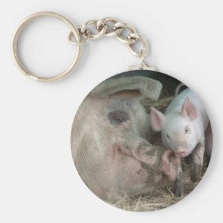 Sow with Piglet Keychain