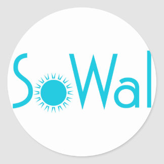 SoWal South Walton County with Sun Round Sticker