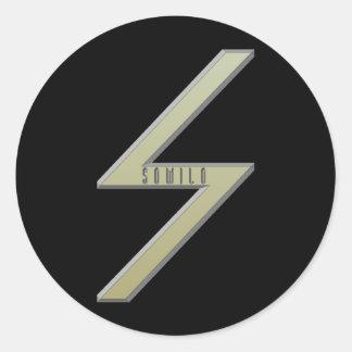 Sowilo Rune gold Classic Round Sticker