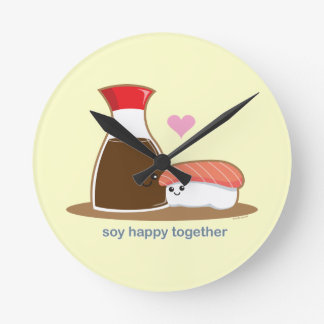 Soy Happy Together Wall Clock