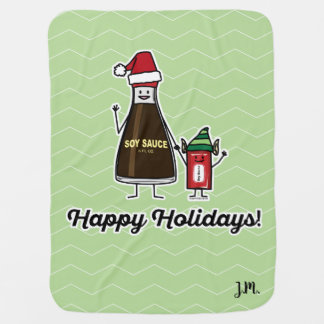 Soy Sauce Bottle Packet kid child Christmas Santa Baby Blanket