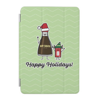 Soy Sauce Bottle Packet kid child Christmas Santa iPad Mini Cover
