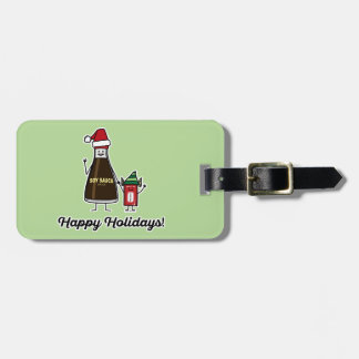 Soy Sauce Bottle Packet kid child Christmas Santa Luggage Tag