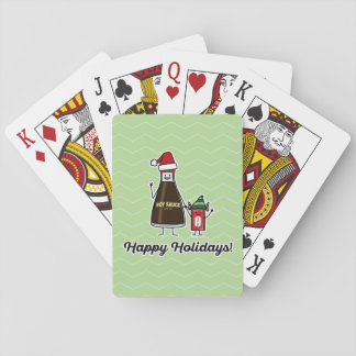Soy Sauce Bottle Packet kid child Christmas Santa Playing Cards